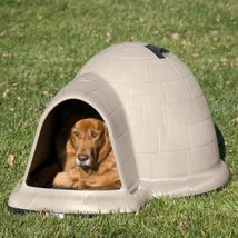 Dog House Pet Puppy Shelter Bed Large Roof Igloo Microban Kennel All Wea... - $299.99