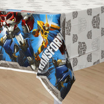 Transformers 4 Core Party Plastic Table Cover 1 Count Birthday Party Sup... - $6.88