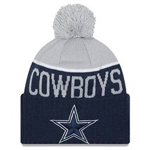 DALLAS COWBOYS Knit Beanie Hat Ski Cap 2 TONE CUFFED TOQUE BY NEW ERA NWT - $21.99