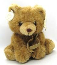 Sugarplum Russ Soft 'n Suede Teddy Bear with Tags K-28 Vintage Plush Stuffed Toy - $14.84