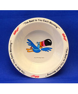 Kellogg's Froot Loops cereal bowl vintage 1995 Toucan Sam plastic - $5.00