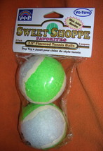 "Vo-Toys Inc V.I.P Sweet Shoppe 2.5"" Mint Flavored Tennis Balls 2 Pack #1... - $6.93"