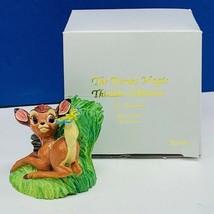 Walt Disney Lenox magic thimble collection figurine box Bambi butterfly ... - $19.19