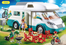 PLAYMOBIL 70088 Family Camper Family Fun Bicycles Grill Camping 2019 - $67.89