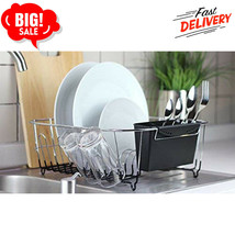 Small Dish Drying Rack Drainer Tray RV Kitchen Sinks Cup - Plated Steel ... - $22.43