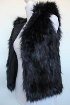 Gap Kids Girl's Blue Black Faux Fur Hooded Vest Size L - $18.99