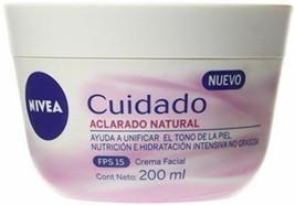Nivea Cuidado Aclarado Natural  Facial Cream Helps Uneven Skin Tone SPF ... - $19.78