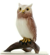 Hagen Renaker Miniature Bird Owl on Branch Ceramic Figurine