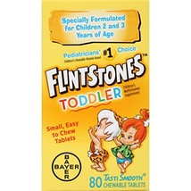 Flintstones Chewable Toddler Vitamins, Multivitamin for Toddlers with Vitamin C,