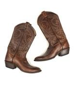 $495 TONY LAMA Vintage 6116 Brown Western Cowboy Boots Shoes Mens Size 9 - $64.60