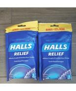 SET OF 2- Halls Relief Mentho-Lyptus Cough Sore Throat 40 Drops EA EXP 2... - $9.99