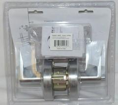 Commercial Hardware Entrance Angled Lever Handle Lockset Dull Chrome image 2