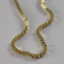 18K YELLOW GOLD CHAIN 1 MM VENETIAN SQUARE LINK 15.75 INCHES, MADE IN ITALY image 4