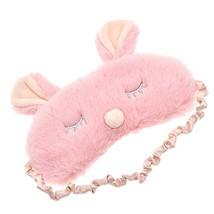 Adorable Plush Rabbit Sleeping Eye Mask Soft Padded Travel Eyepatch Blin... - €8,58 EUR