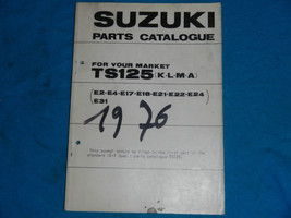 1973 73 1974 74 1975 75 1976 76 Suzuki TS125 Ts 125 Parts Catalog Book Manual - $31.22
