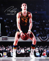 RICK BARRY Signed GS Warriors Underhand Free Throw 16x20 Photo w/HOF 198... - $64.69