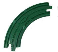 1 FISHER PRICE GEO TRAX GREEN CURVED TRACK ROAD PLASTIC REPLACEMENT PART... - $4.99