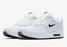 online store 44430 a6da5 Nike Air Max 1 Premium SC Jewel White Black 918354-103 Men Sneaker Running