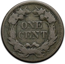1857 Letters Head Cent Penny Coin Lot# A 419 image 2