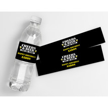Cheers and Beers (Any Age) Birthday Personalized Water Bottle Labels  - $21.78