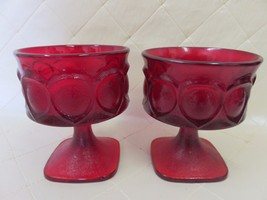 Vintage Ruby Red Glass Goblets Carnival AVON? 8 available - $9.39