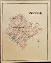 1876 antique WARWICK PA MAP from bucks county atlas j d scott ORIGINAL - $47.50