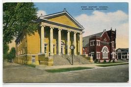 First Baptist Church Muskogee Oklahoma linen postcard - $5.89