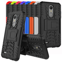 For LG Phoenix Plus (AT&T) Case, Rugged Armor Shockproof Hybrid Kickstan... - $8.00