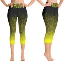 Black & Yellow Capri Leggings for Women Butt Lift Yoga Pants for Women H... - $39.99+
