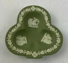 Vintage Wedgwood Green Jasper Jasperware Club Tray EUC - $29.95