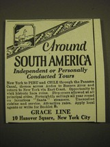 1924 Grace Line Cruise Ad - Around South America independent or personally  - $14.99