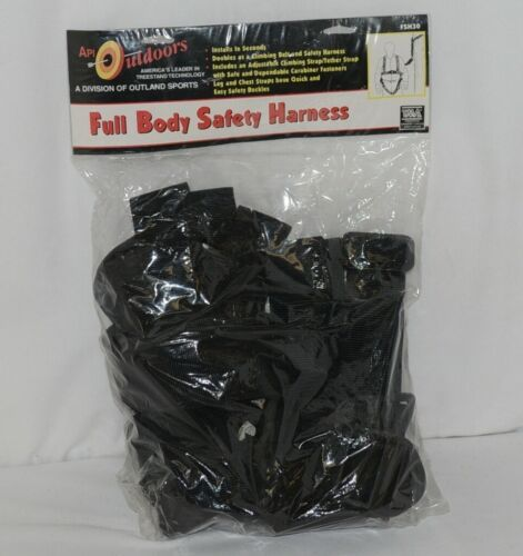 API Outdoors FHS30 Full Body Hunting Safety Harness Black TMA
