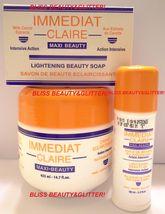 Immediat Claire 3 LOT! Skin Lightening Cream,Oil&Soap/KOJIC,CARROT EXTRA... - $27.99