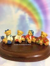 Cherished Teddies School Days Mini's  Set of 4 1999 NIB  RARE - $52.42