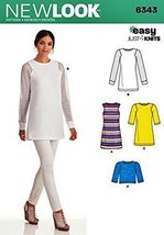 Simplicity New Look 6343 Misses' Knit Tunic in Two Lengths, and Top Size 6-18 - $11.27