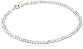 Sterling Silver Interlocking Geometric Link Bracelet (8 Inches) - $29.36