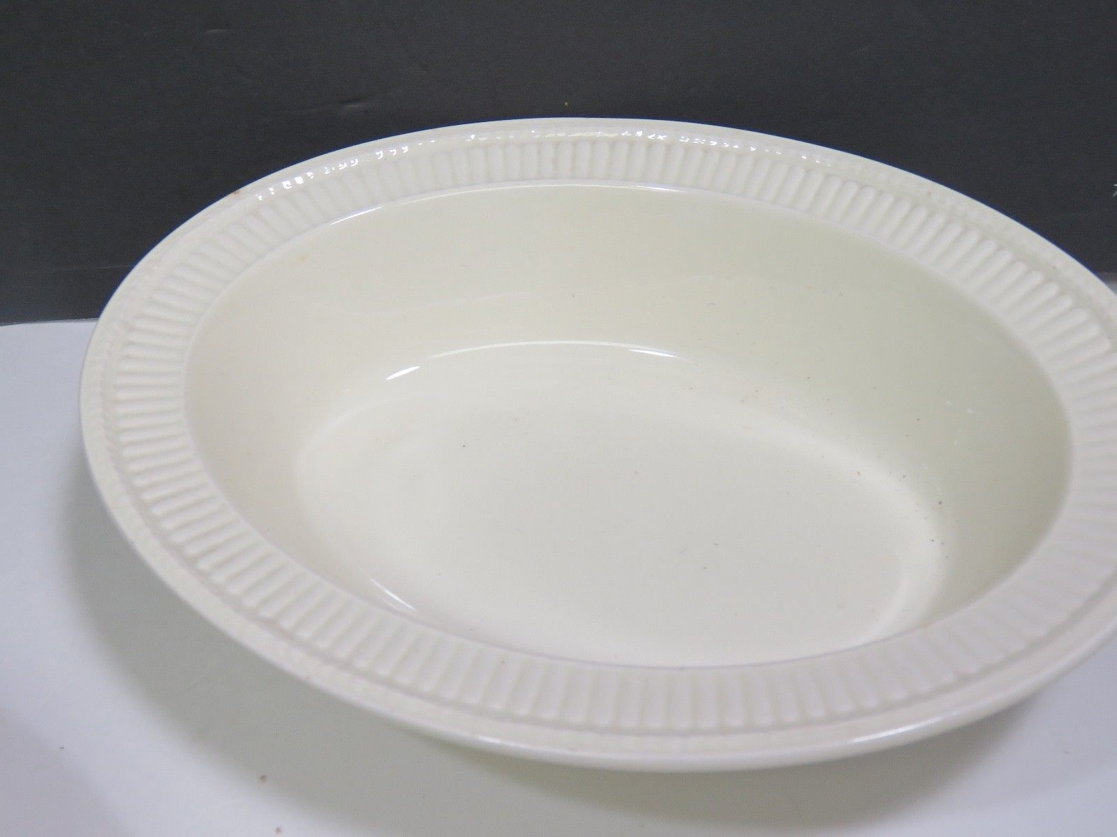"2 Wedgwood Edme Creamware Oval Vegetable Serving Bowls 10.75"" image 3"