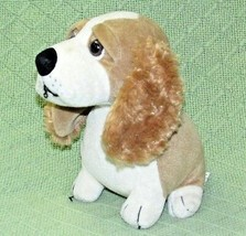 "Vintage Russ Berrie Plush DAGWOOD Stuffed Puppy Dog Animal Tan Ivory 7.5""  - $24.75"