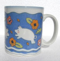 Vintage Flying Pigs Paraglazed Novelty Collectible Coffee Mug by Brown - $18.39