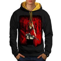 Girl Hunter Wild Fantasy Sweatshirt Hoody Scary Wolf Men Contrast Hoodie - $23.99+