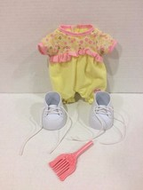 Cabbage Patch Kids CPK Dolls White Shoes Yellow Outfit Brush FREE Shipping! - $15.83