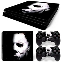PS4 Slim Michael Myers Console & 2 Controllers Decal Vinyl Skin Wrap Sticker - $15.81