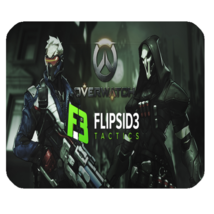 Mouse Pad Overwatch Widow Maker Shooter Video Game Battle Dark Skull Animation - $9.00