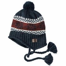 Timberland Unisex Fair Isle Peruvian Dark Navy Winter Hat A17YE - $18.69