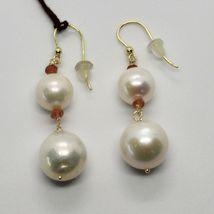 Ohrringe aus Gold Gelb 18K 750 Perlen Wasser Dolce Quarz Citrin Made in Italien image 4
