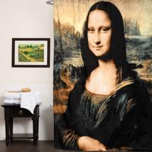 """100% Polyester Fabric Shower Curtain Da Vinci """"Mona Lisa"""" Print 70""""x72"""" - $26.09"""