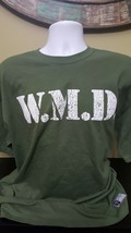 WWE  authentic W.M.D. mens XL t-shirt Wrestling Army Graphic T-Shirt Free Ship - $12.87