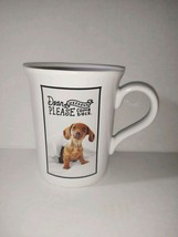 New Hallmark Ashley Garcia Coffee Mug Dog Dachshund Weekend Please Come ... - $22.76