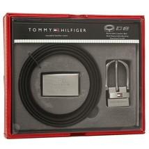 Tommy Hilfiger Men's Set Reversible Leather Belt Removable Buckle 11TL08X012 image 1
