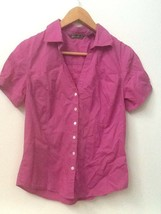 Eddie Bauer Size Small Women's Button Down Blouse Top Purple Short Sleeve - $15.95